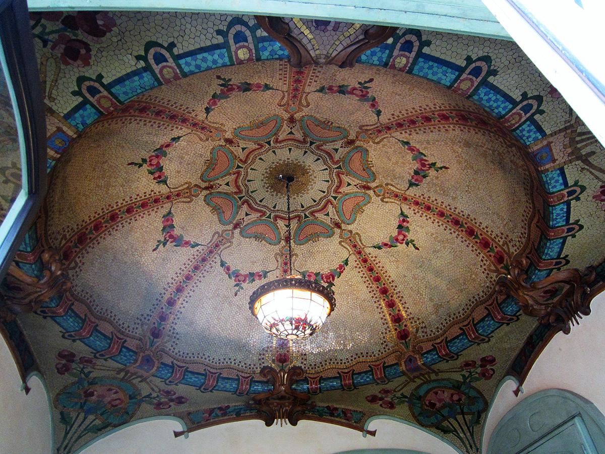 Plafond Fausse et vraie mosaïque