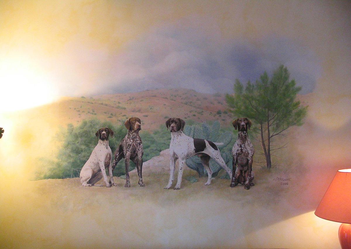 portrait peint sur mur chien aix-en-provence